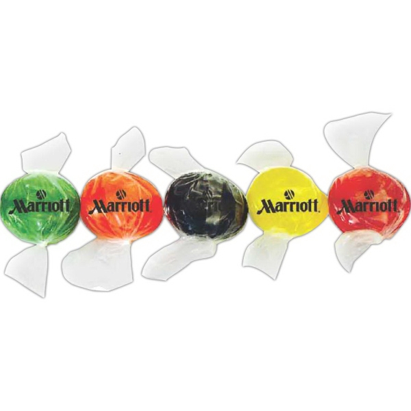 Item #CN-100-FB-E Imprinted Fruit Buttons