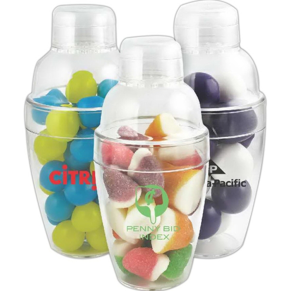 Item #PK-802-LGB Cocktail Shaker with Large Gumballs