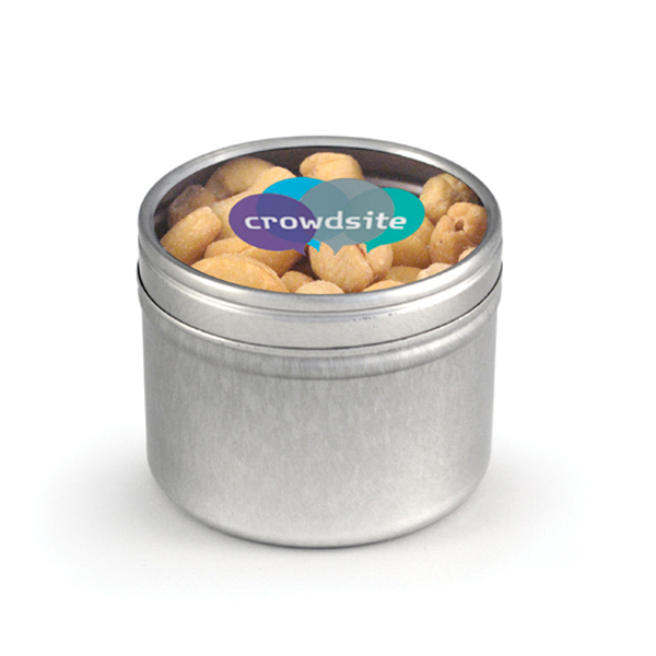 Item #80-00603 Round Window Tin - Cashews, Full Color Digital