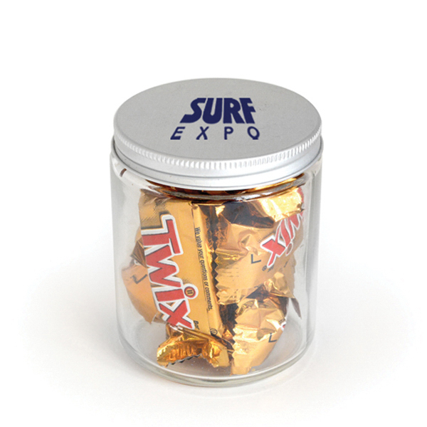 Item #00412 Glass Jar - Twix Minis (R)