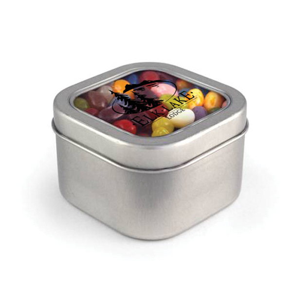 Item #00108 Square Window Tin - Jelly Belly (R)