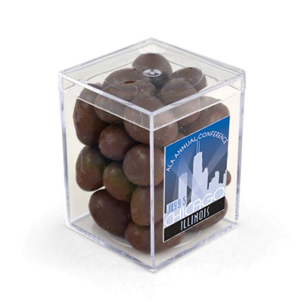 "Item #80-00205 3"" Geo Container - Chocolate Covered Almonds, Full Color"