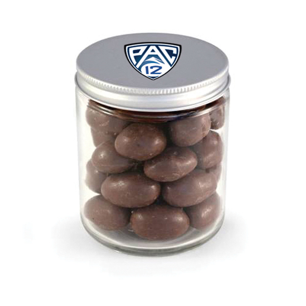 Item #80-00405 Glass Jar - Chocolate Covered Almonds, Full Color Digital