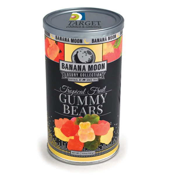 Item #80-00906 Banana Moon Luxury - Tropical Fruit Gummy Bears, Full Color