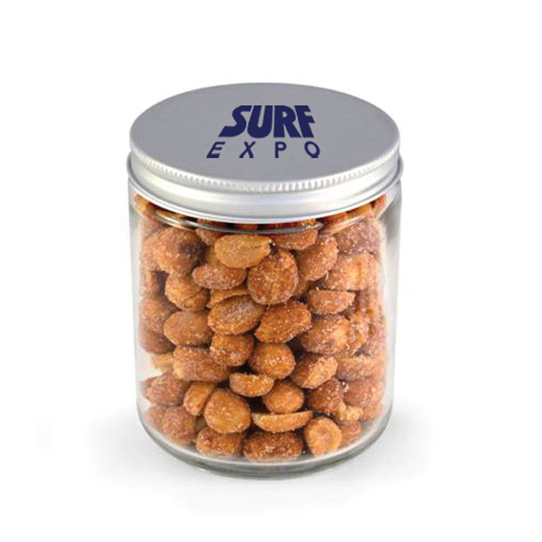 Item #00407 Glass Jar - Honey Roasted Peanuts
