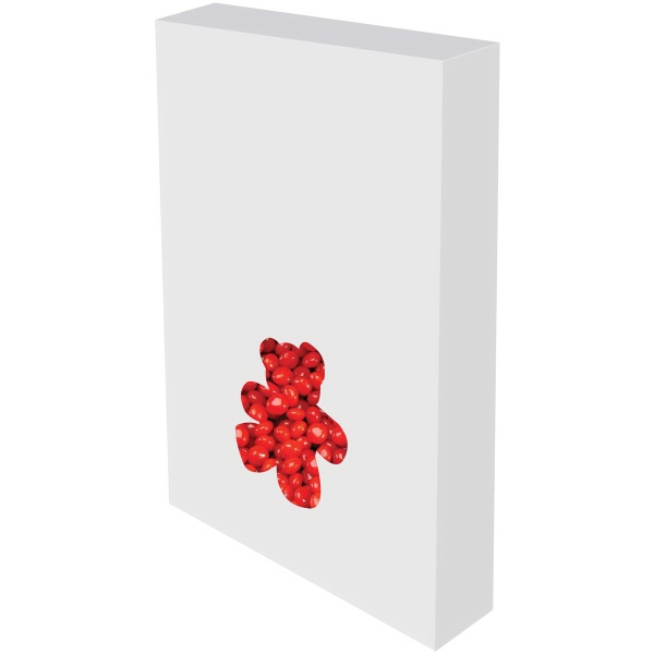 Item #BEAR-BOX-RED Customizable Bear Box Packaging with Cinnamon Red Hots Candy
