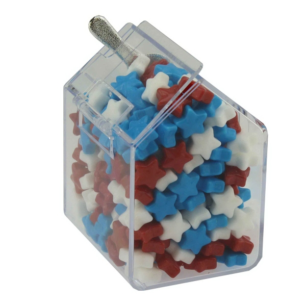Item #CANDYBIN1-STAR Candy Bin Dispenser with Candy Stars