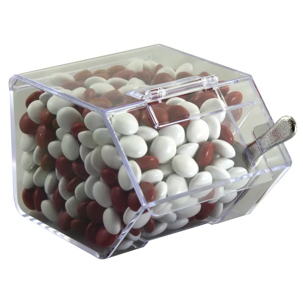 Item #CANDYBIN2-CCC Large Candy Bin with Corporate Colored Chocolates Candy