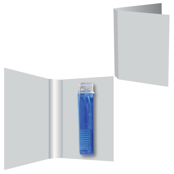 Item #ZBS-TOOTHBRUSH Single Fold ZagaBook with Travel Toothbrush