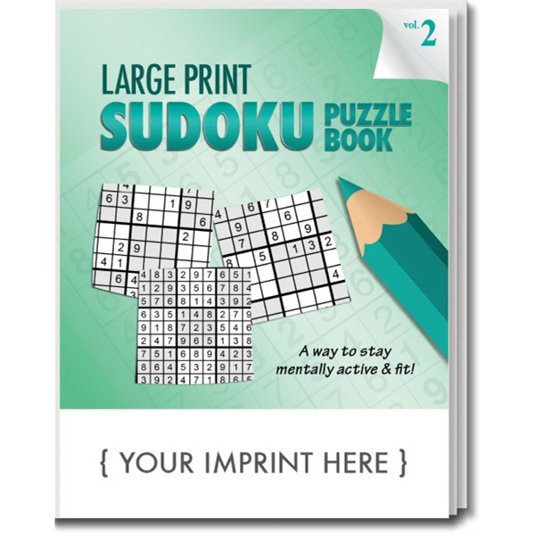 Item #1961 LARGE PRINT Sudoku Puzzle Book - Volume 2