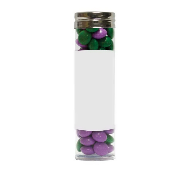 Item #LGPT17-CHOC Gourmet Plastic Candy Tube With Corporate Color Chocolate