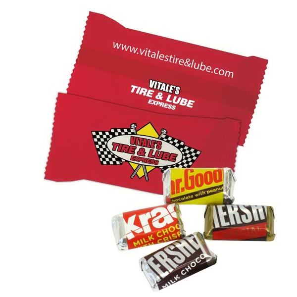 Item #CHOCOLATE BAR5 Custom Individually Wrapped Hershey Mini Chocolate Candy Bar