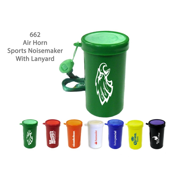 Item #AIR HORN 662GR Air Horn Sports & Stadium Fun Noise Maker - Green - E662GR