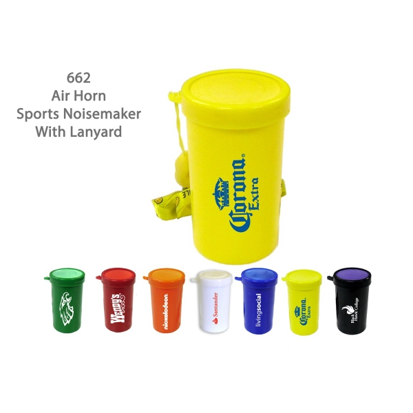 Item #AIR HORN 662YL Air Horn Sports & Stadium Fun Noise Maker - Yellow - E662YL