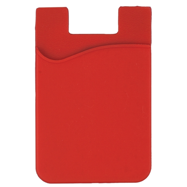 Item #6146 Slim Pocket for Mobile Devices Silicone Wallet