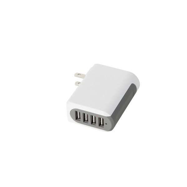 Item #AD714 UL listed four port 4.8A wall charging adapter