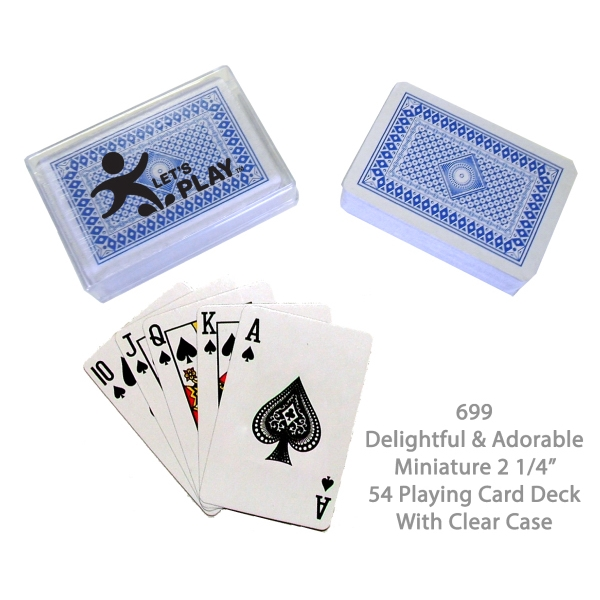 Item #CARDS E699BLUE Playing Card Deck - Blue
