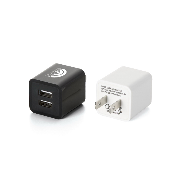 Item #AD872 Dual port 2A wall charger