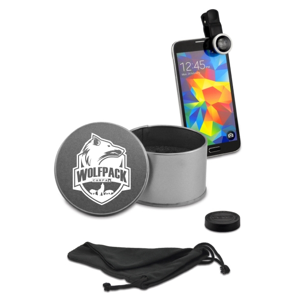 Item #631370 Fish Eye 180 Degree View Lens Kit in Tin Case