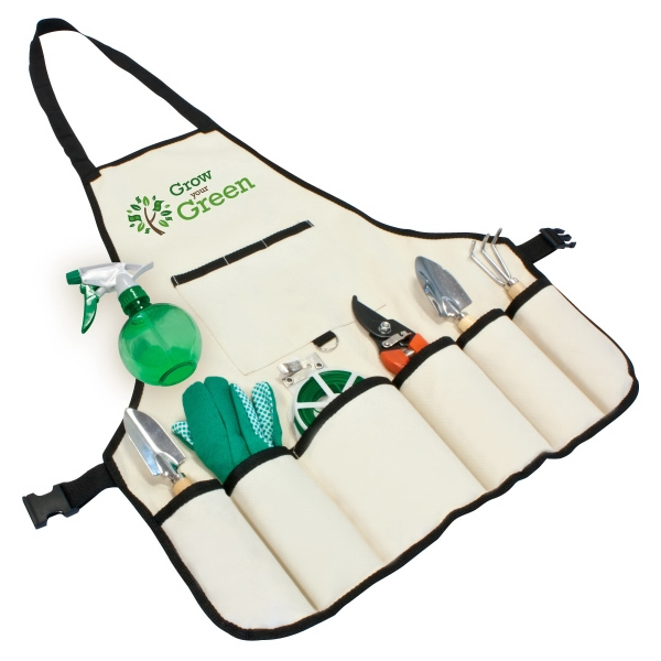 Item #GS122 8 pc Garden Apron Set