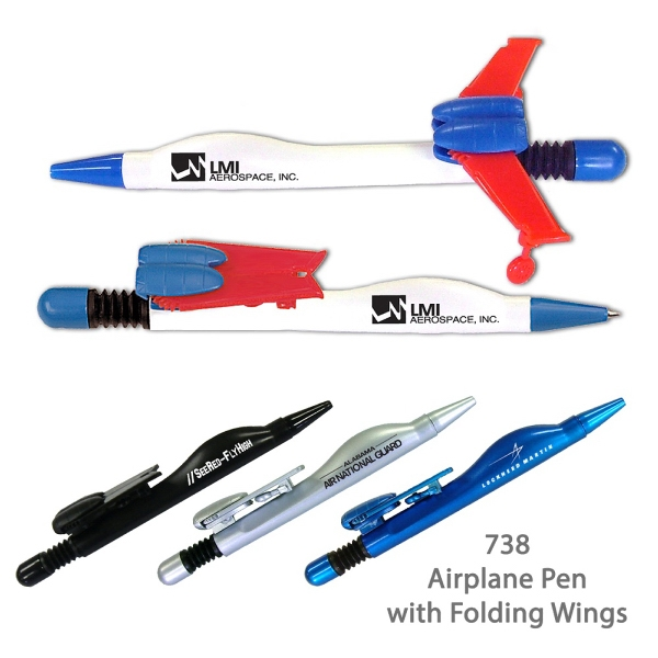 Item #738RW AIRPLANE Airplane Pen - Red/White/Blue