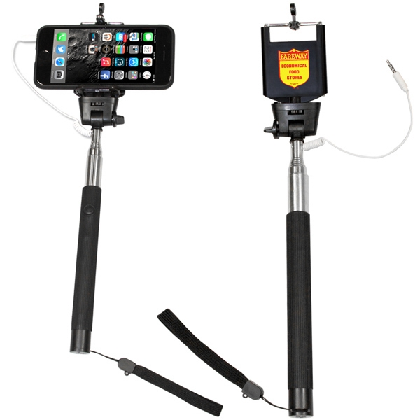 Item #AD-9301 Extendable Wired Selfie Stick