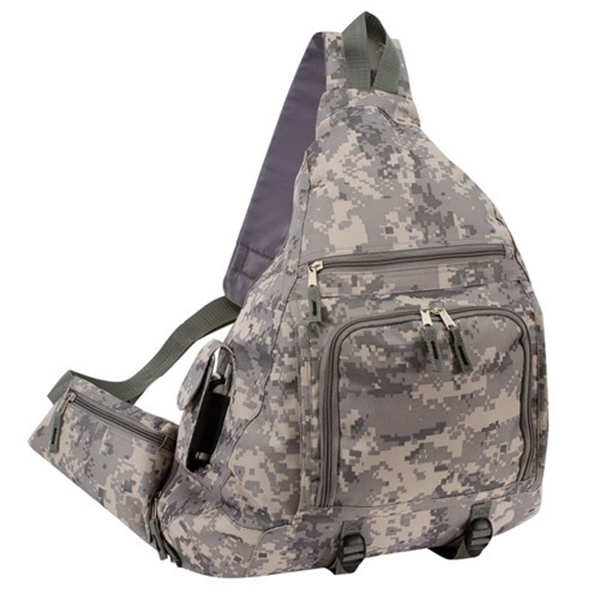 Item #B-8438DM Deluxe Digital Camo Sling Backpack Bag