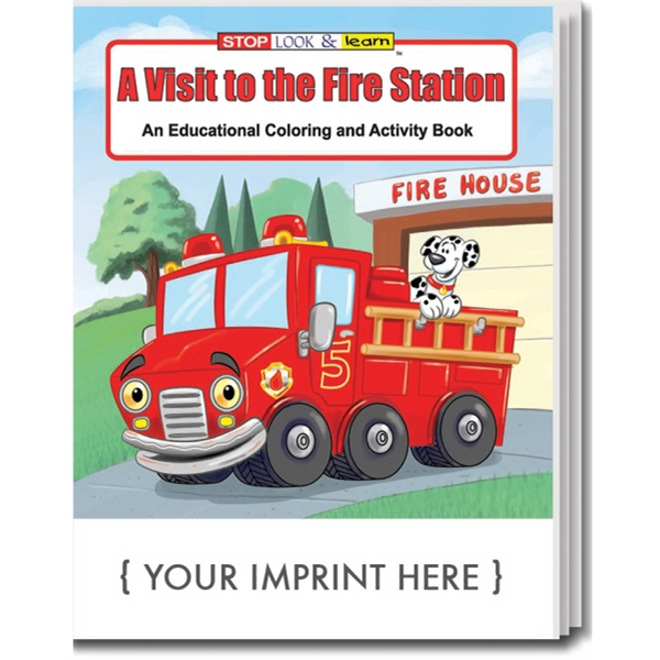 Item #0191 A Visit to the Fire Station Coloring and Activity Book