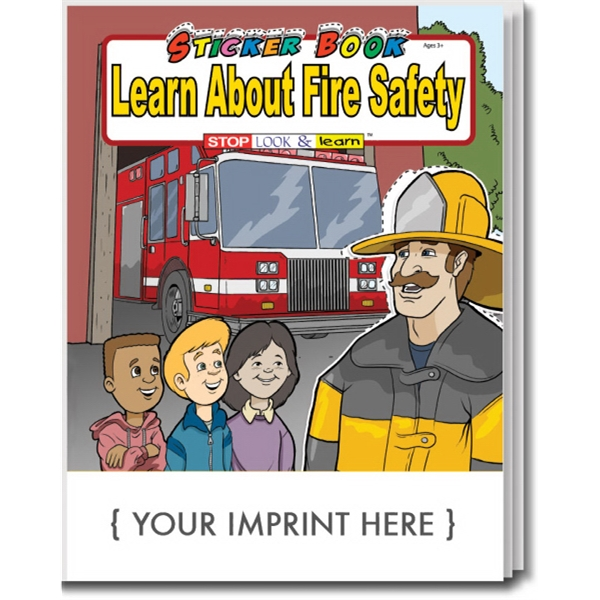 Item #1025 Learn About Fire Safety Sticker Book