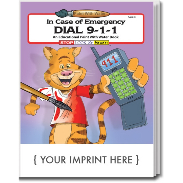 Item #1810 Dial 9-1-1 Paint With Water Book