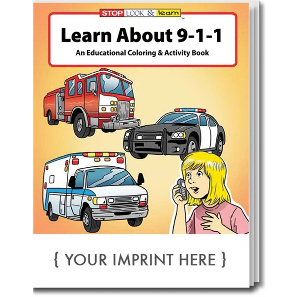 Item #0200 Learn About 9-1-1 Coloring and Activity Book