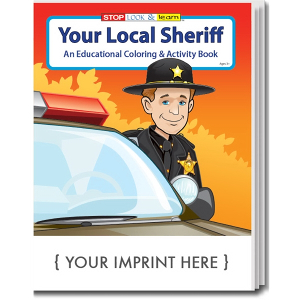 Item #0152 Your Local Sheriff Coloring and Activity Book