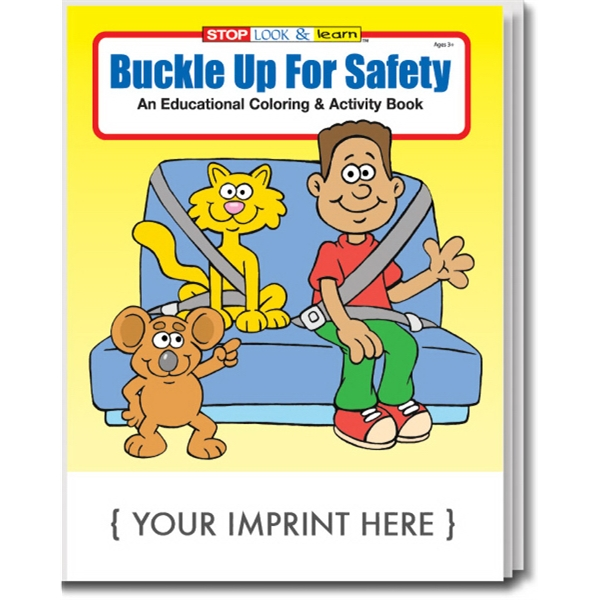 Item #0225 Buckle Up For Safety Coloring and Activity Book