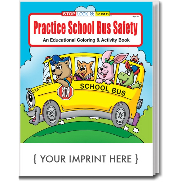 Item #0230 Practice School Bus Safety Coloring and Activity Book