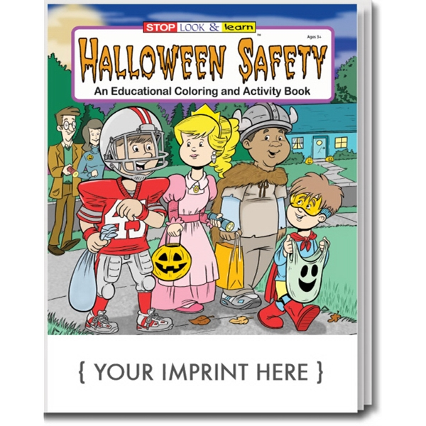Item #0473 Halloween Safety Coloring and Activity Book