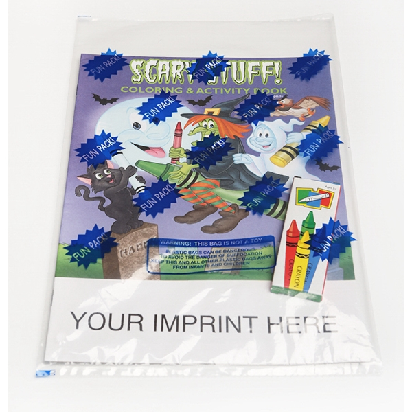 Item #0477FP Scary Stuff Coloring Book Fun Pack