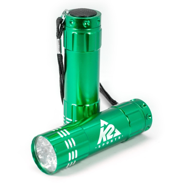 Item #LL216 9 LED Flashlight with Strap