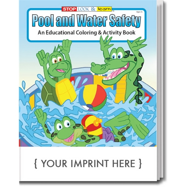 Item #0296 Pool and Water Safety Coloring Book
