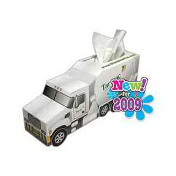 Item #TP032 Cement Truck Shaped Tissue Box