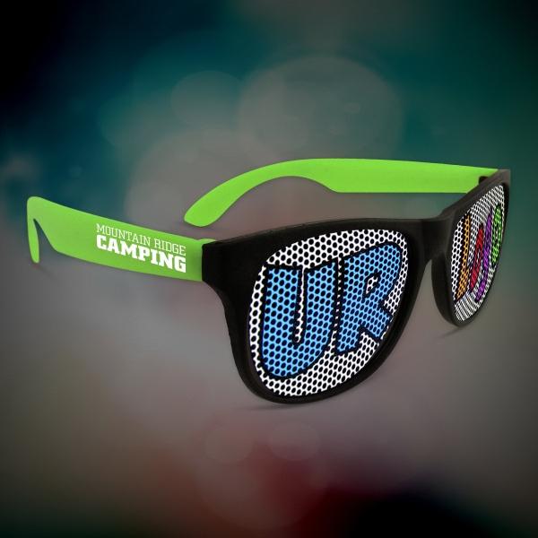 28a89ac1b4 Custom Green Neon Billboard Sunglasses - Item  BIL090 - ImprintItems ...