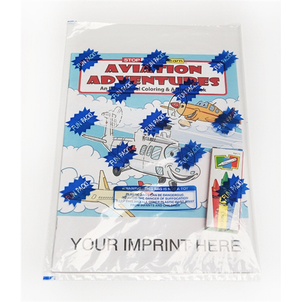 Item #0572FP Aviation Adventures Coloring and Activity Book Fun Pack