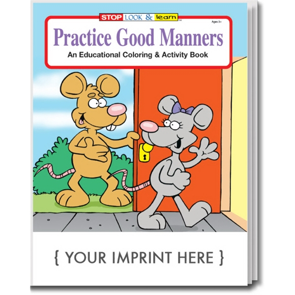 Item #0445 Practice Good Manners Coloring and Activity Book