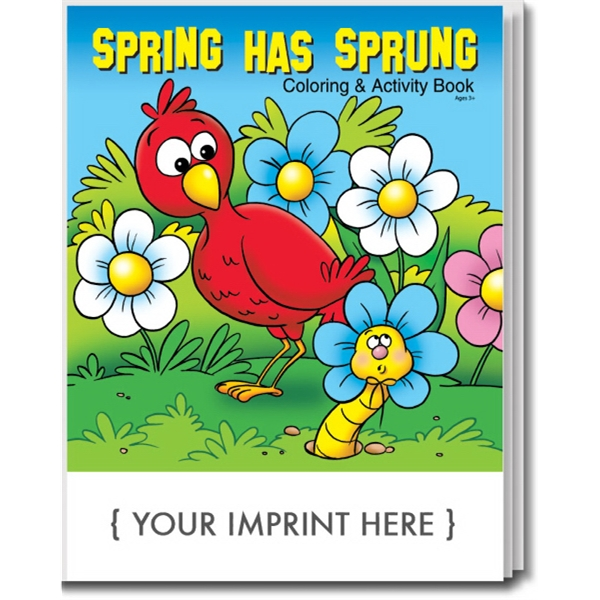 Item #0448 Spring Has Sprung Coloring and Activity Book