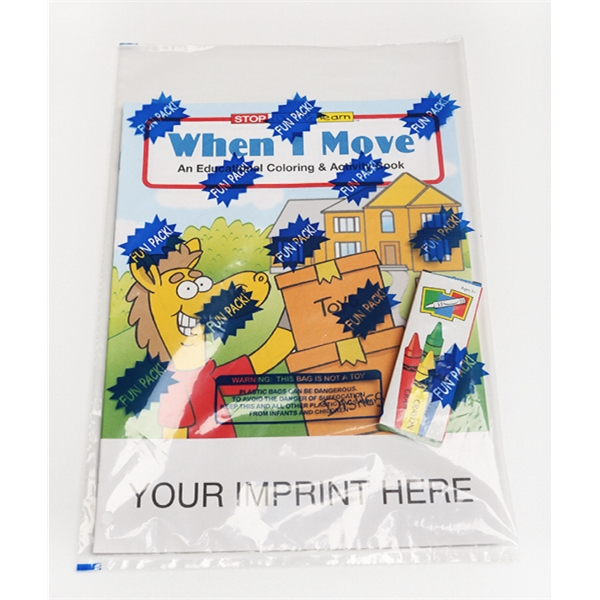 Item #0466FP When I Move Coloring and Activity Book Fun Pack