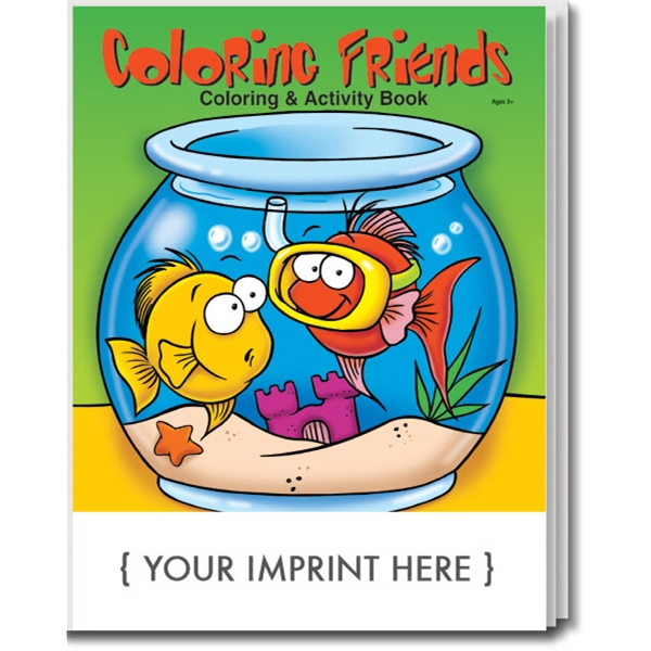 Item #0565 Coloring Friends Coloring and Activity Book