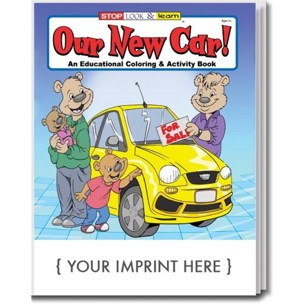 Item #0574 Our New Car Coloring and Activity Book