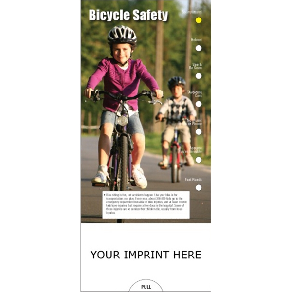 Item #PG-1025 Bicycle Safety Slide Chart