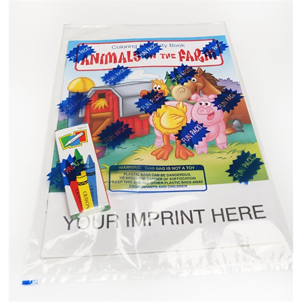 Item #0570FP Animals on the Farm Coloring and Activity Book Fun Pack