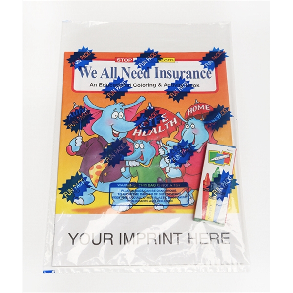 Item #0595FP We All Need Insurance Coloring and Activity Book Fun Pack
