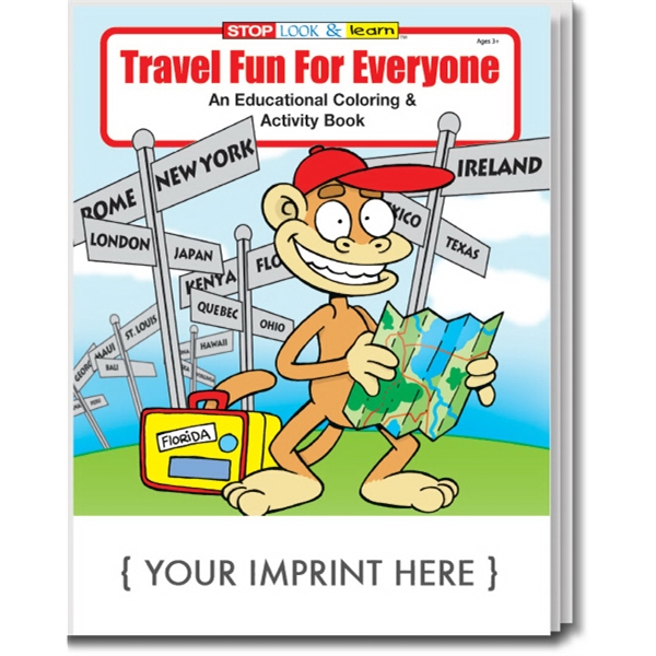 Item #0585 Travel Fun For Everyone Coloring and Activity Book